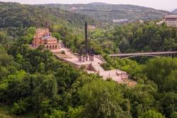 The Asenevtsi Monument is a monumental monument in Veliko Tarnovo, dedicated to the Bulgarian kings Assen, Peter, Kaloyan and Ivan Assen II.