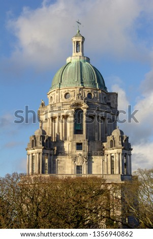 The Ashton Memorial is located at the highest point in Williamson Park, Lancaster, Lancashire,  England, United Kingdom #1356940862