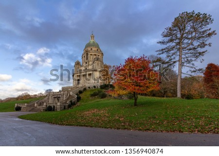 The Ashton Memorial is located at the highest point in Williamson Park, Lancaster, Lancashire,  England, United Kingdom #1356940874