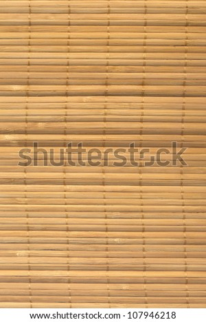 The asian mat from yellow bamboo. Wood texture