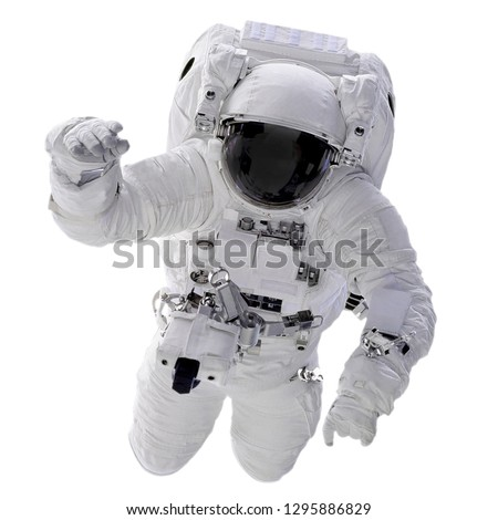 The Astronautt isolated on white background with Clipping Path - Elements of this Image Furnished by NASA. #1295886829