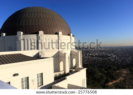 The astronomical observatory in Los Angeles, California - stock photo