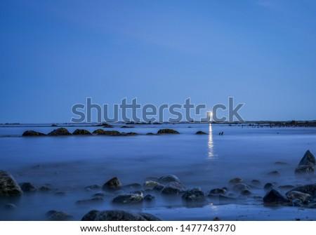 The Atlantic coastal shoreline landscape