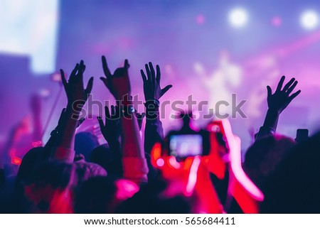The audience at the concert.
