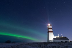 The aurora and the lighthouse