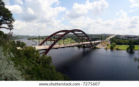 The Austin 360 bridge from an artistic view.