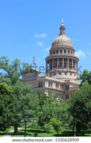The Austin capital building