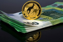 The Australian Kangaroo Gold Investment Coin is denominated in Australian dollars. A well-known symbol of Australia is the kangaroo chosen as the main motif of the Australian gold investment coin.