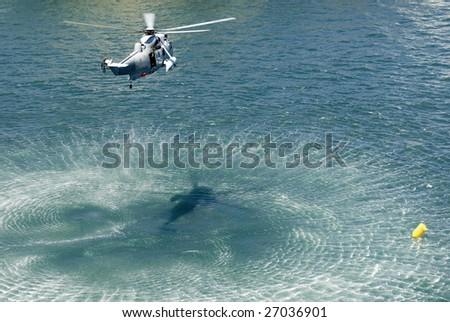 the Austrlian navy practising a rescue operation