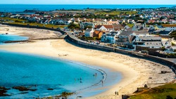 The Azure Waters of Cobo Bay Guernsey