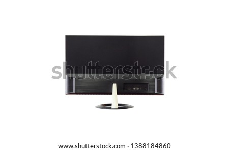 The back of the monitor led a new generation of computer monitors separately on a white background. #1388184860