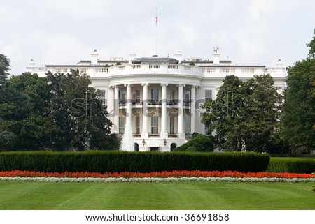The Back Side of the White House in Washington DC