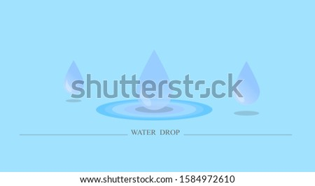 The background image showing the dripping water droplets