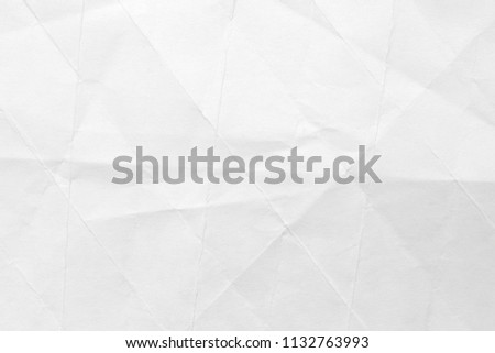The background is white with an old surface, with cracks and kinks. Texture of paper in retro style, crumple. #1132763993