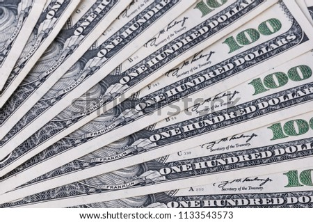 free photos a pile of one hundred dollar bills on a table avopix com