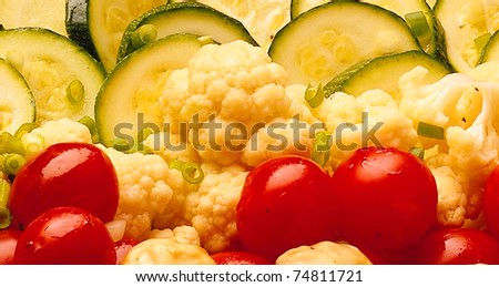 The background of fresh vegetables