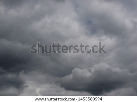 the background of the gray sky on a cloudy cloudy day #1453580594