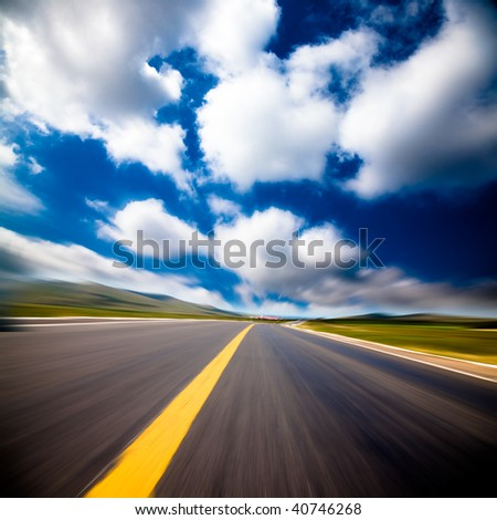 the background of the road wiht cloud of a meadow china.