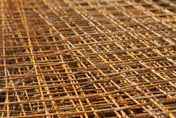 The background of the rusty netting horizontal