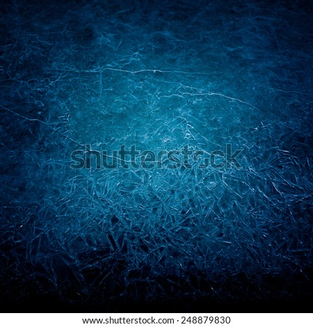 The background texture of blue ice. Icy pattern #248879830