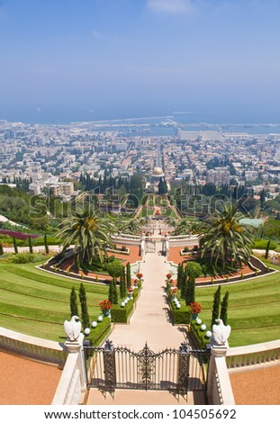 The Bahai gardens in Haifa north Israel