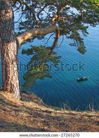 The Baikal lake in Russia.