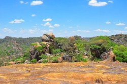 The balancing rocks of Matopos Hills - the Spiritual home of the Matabele tribe, final resting place of Cecil John Rhodes and spectacular cave paintings