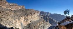 The balcony walk at jebel shams mountain oman