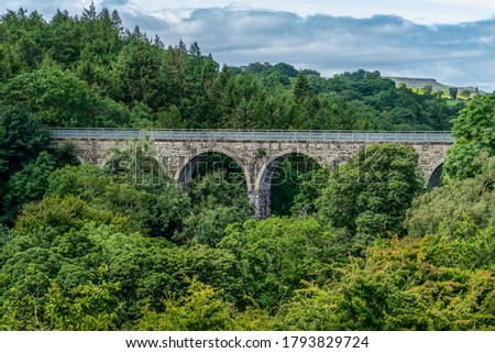 The Balder Viaduct on the disused railway line between Barnard Castle and Middleton-in-Teesdale Photo stock ©