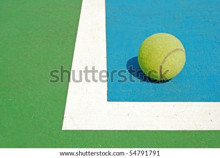 The Ball in Corner court , Tennis game