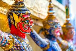 The Bangkok Grand Palace and Wat Phra Kiew complex, Bangkok, Thailandia.