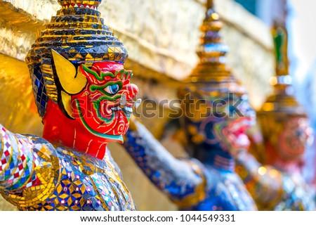 The Bangkok Grand Palace and Wat Phra Kiew complex, Bangkok, Thailandia. #1044549331