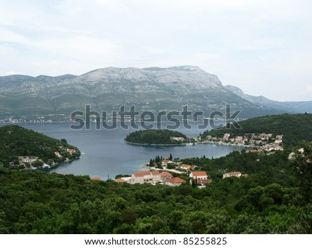 The Banja bay of the island Korcula in Croatia in the Adriatic sea