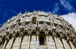 The baptistery in Pisa, Tuscany