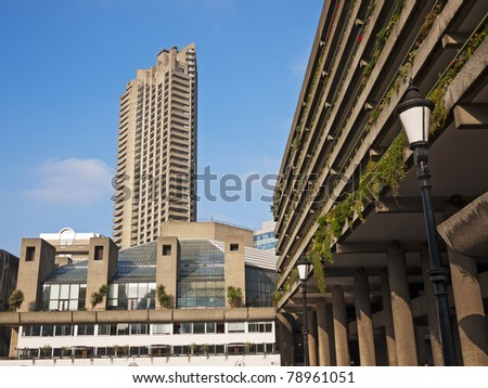 The Barbican Centre, London, UK - stock photo