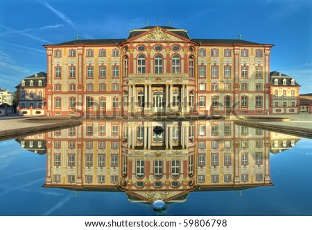 The baroque palace of Bruchsal, Germany Stock foto ©