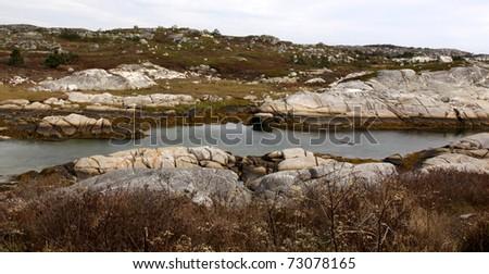 The barren landscape near Peggy\'s Cove, Nova Scotia Canada.