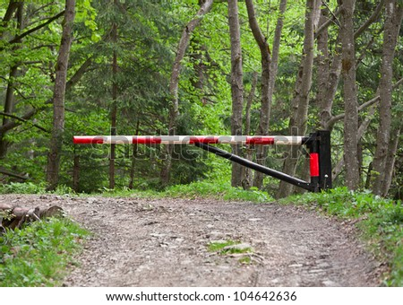 The barrier, blocking way to the forest