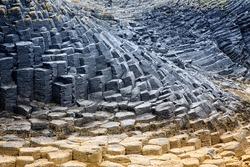 The basalt column of Fingal's Cave, Staffa Island, Scotland