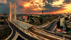 The Basarab Overpass is a road overpass in Bucharest, Romania, connecting Nicolae Titulescu blvd. and Grozǎveşti Road, part of Bucharest's inner city ring