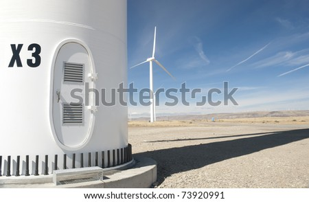 the base of a wind turbine
