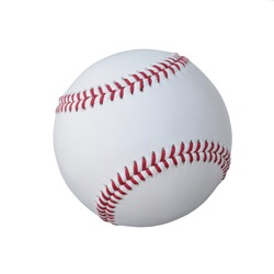 The Baseball ball standard hard cork inner size diameter 7.28 CM hand sewing made from leather and weight 130 - 150 gram, isolated on white background. This has clipping path.
