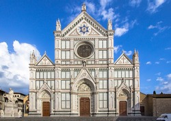 The Basilica di Santa Croce (Basilica of the Holy Cross) in Florence, Italy