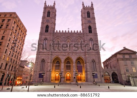 The Basilica of Notre-Dame in Montreal (Church)