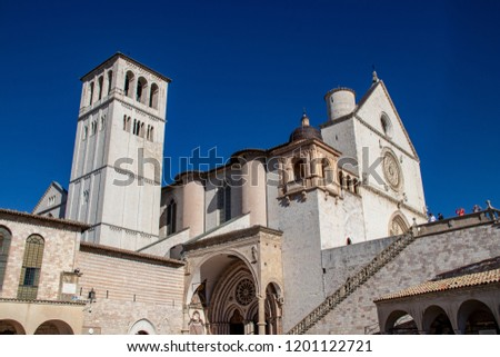 The Basilica of Saint Francis in Assisi, Italy #1201122721
