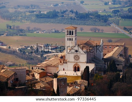 The Basilica of San Francesco d'Assisi, Italy - stock photo