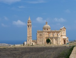 The Basilica of the National Shrine of the Blessed Virgin of Ta' Pinu is a Roman Catholic minor basilica and national shrine located on the island of Gozo, Malta, Europe