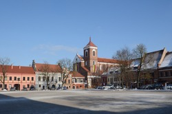 The Basilica of the St. Apostles Peter and Paul's in Kaunas in Lithuania