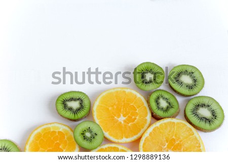 The basis for the booklet, the background for the banner. Basis for design with tropical fruits. Healthy food.