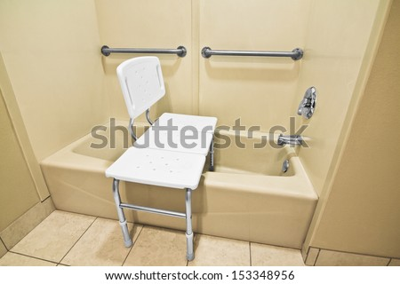 The Bathing Chair Helps The Disabled And Handicap Use The Bathtub Easier With